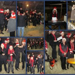 Het gelegenheidskoor kerstmarkt  2008 Aventoer